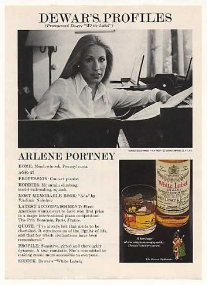 Concert Pianist Arlene Portney Dewar's Profile (1978)