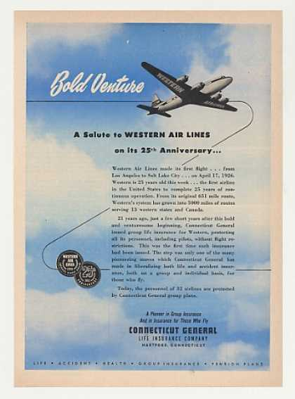 Western Airlines 25th Anniversary CT General (1951)