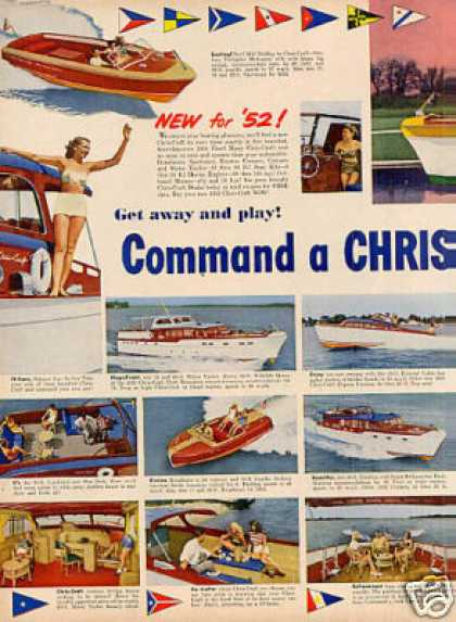 Chris-craft Boats Ad 2 Page (1952)