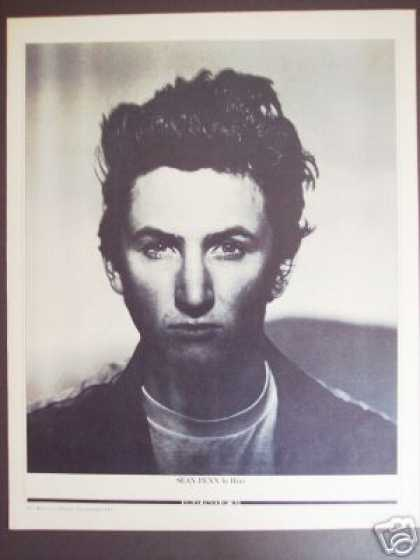 Sean Penn B&w Promo Photo By Hiro (1983)