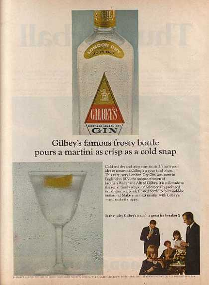Gilbey's Distilled London Dry Gin (1966)