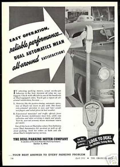 Dual Automatics Parking Meter Photo (1951)