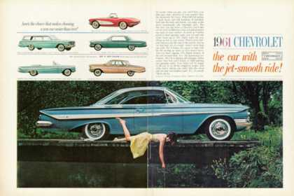 Chevy Impala Sport Coupe Corvette Ad 6 Car Lineup (1961)
