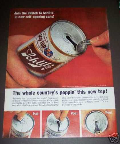 Original New Pop Top Schlitz Beer Can (1963)