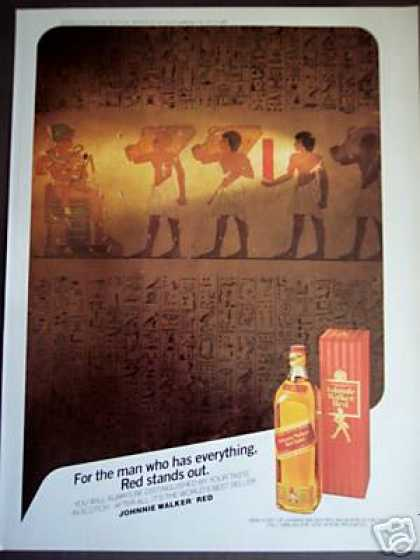 Johnnie Walker Red Scotch Whisky Hieroglyphics (1985)