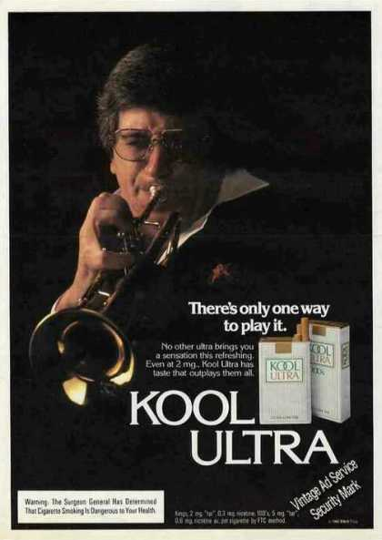 Kool Ultra Cigarettes Trumpet Player (1982)