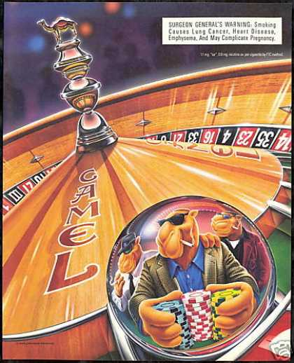 Casino Chips Roulette Joe Camel Cigarette (1996)
