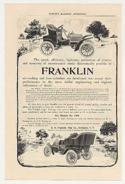 Franklin Runabout and Light Touring Car (1905)