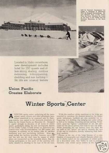 """U.p. Creates Winter Sports Center"" Article (1937)"
