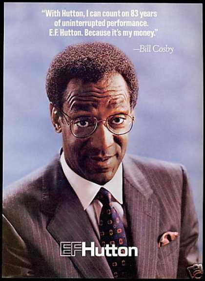 Bill Cosby Its My Money EF E.F. Hutton (1987)