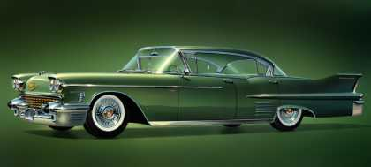"From the dealer brochure ""Motordom's Masterpiece"" Cadillac Series 62 sedan (1958)"
