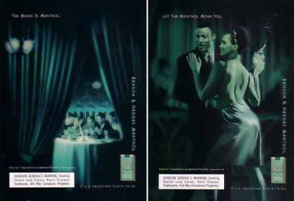 Benson & Hedges Ads – Menthol Mood Set of 2 (1999)
