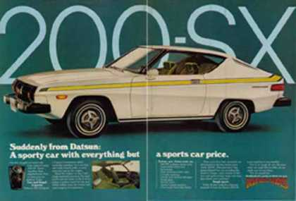 Datsun 200-SX Car – Suddenly it's going to dawn on you (1976)