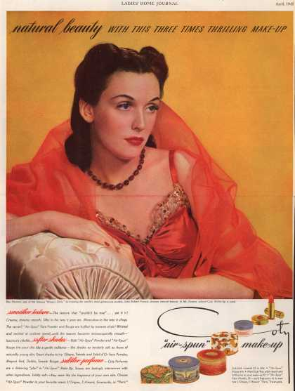 Coty – Natural beauty With This Three Times Thrilling Make-Up (1942)
