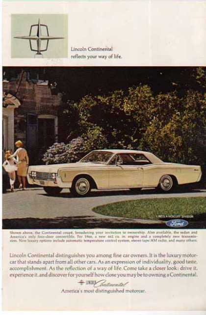 Ford Lincoln Continental Coupe Car (1966)