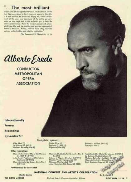 Alberto Erede Photo Conductor Booking (1955)