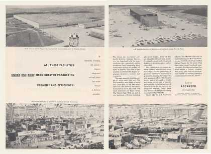 Lockheed Marietta GA Aircraft Plant 2-Page (1954)