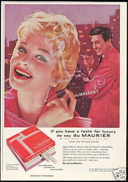 Du Maurier Luxury Cigarette Photo (1958)