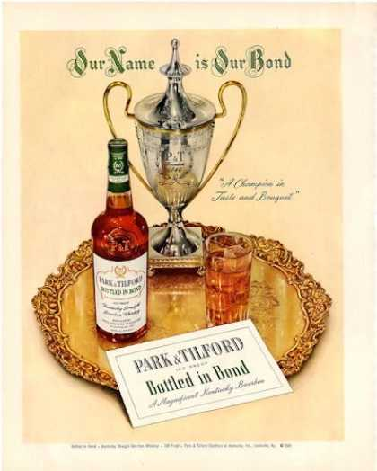 Park & Tilford Whisky Bottle (1950)