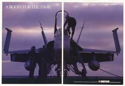 F/A-18 Aircraft Photo Sundstrand Fluid Pump 2-P (1987)