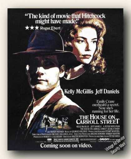The House On Carroll Street Movie Advertising (1988)