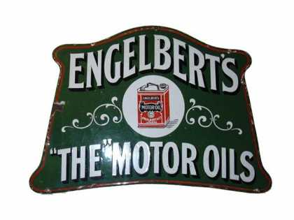 Englebert Motor Oils Sign