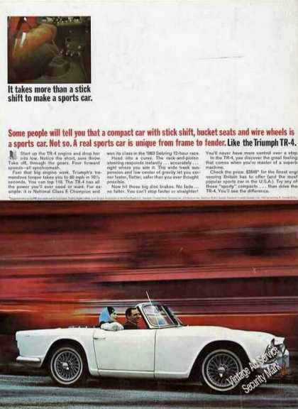 "Triumph Tr-4 ""Unique From Frame To Fender"" Nice (1963)"