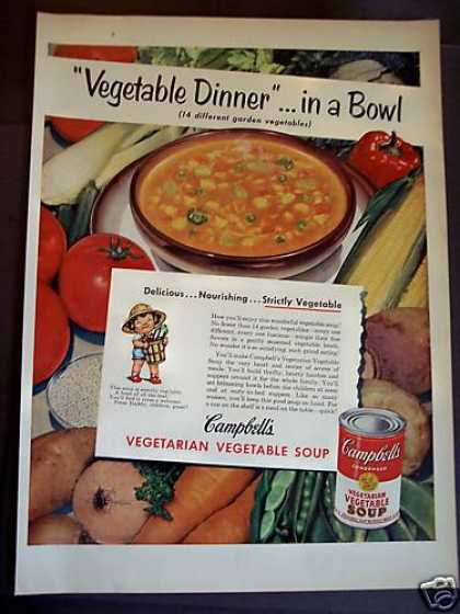 Campbell's Vegetarian Vegetable Soup (1952)