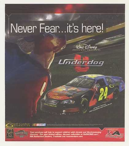 NASCAR Jeff Gordon Disney Underdog Car (2007)