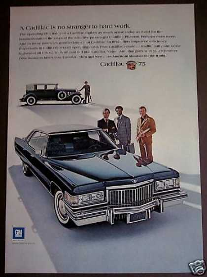 Classic Blue Cadillac Car Auto (1975)