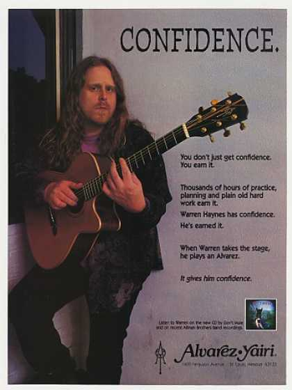 Warren Haynes Alvarez Guitar Photo (1995)