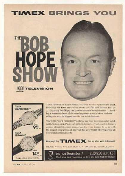 Bob Hope NBC TV Show Timex Watches (1957)