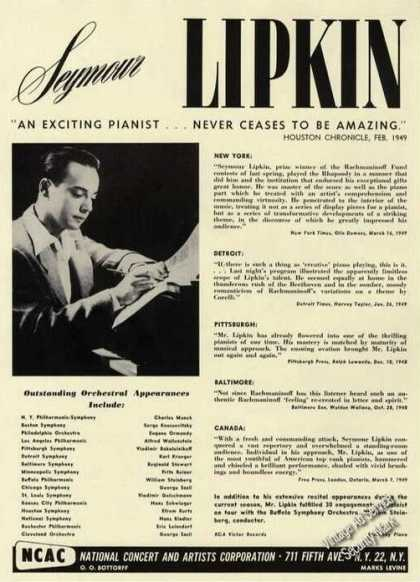 Seymour Lipkin Photo Piano Rare Music (1950)