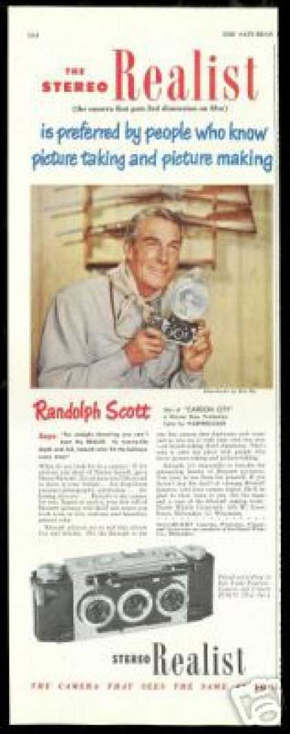 Randolph Scott Photo Stereo Realist Camera (1952)