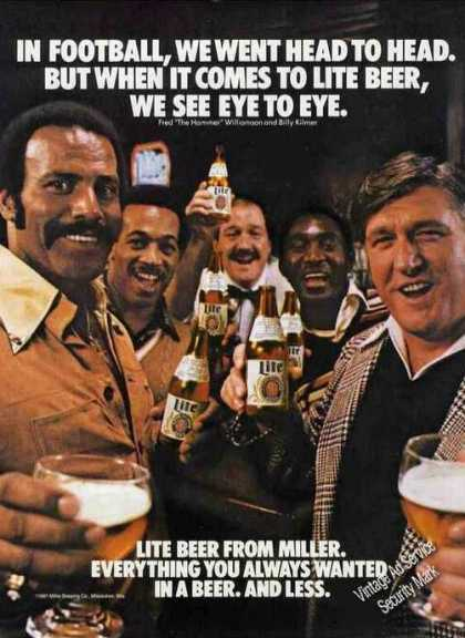 Miller Lite Beer Williamson & Kilmer Football (1981)