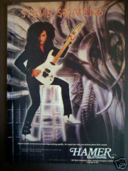 Steve Stevens Photo Hamer Guitars (1989)