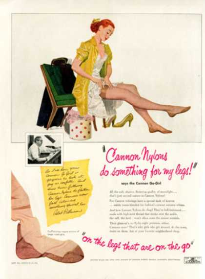 Cannon Go Girl Nylon Hose Patterson Art (1951)