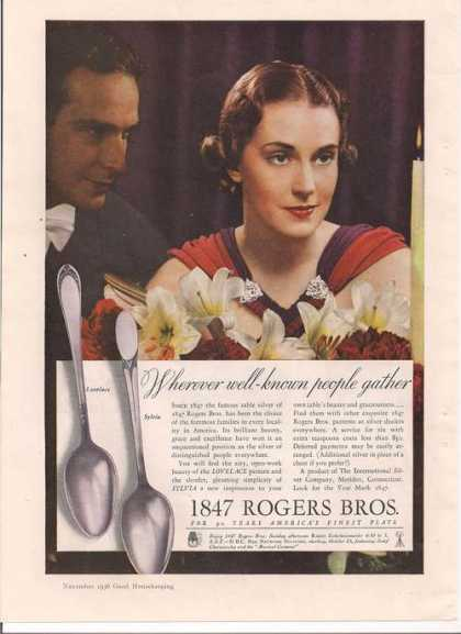 1847 Rogers Bros Finest Silverware (1936)