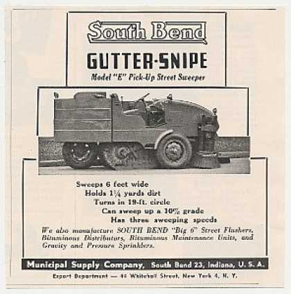 South Bend Gutter-Snipe Model E Street Sweeper (1950)