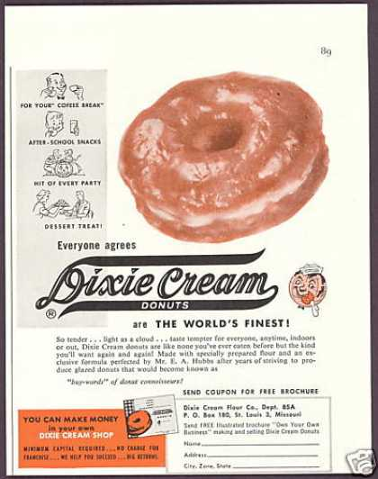 Dixie Cream Donuts Shop Ownership (1958)