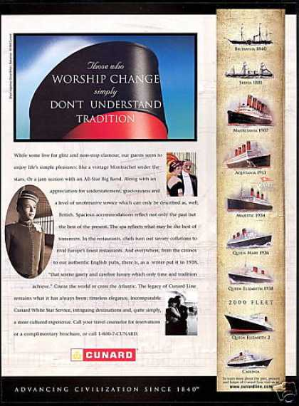 Cunard Cruise Line Ship 1840 Through year 2000 (1999)