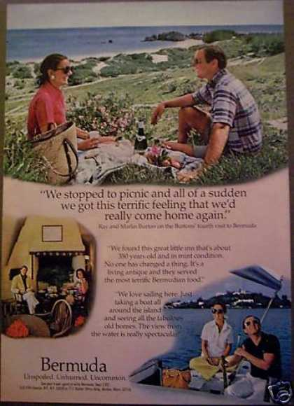 Bermuda Couple Having a Picnic Travel (1975)