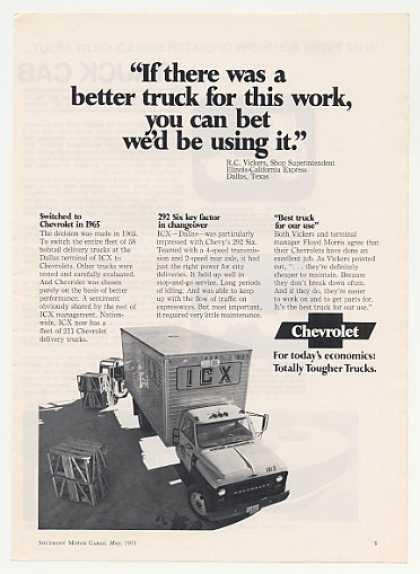 ICX Chevy Delivery Truck Photo (1971)