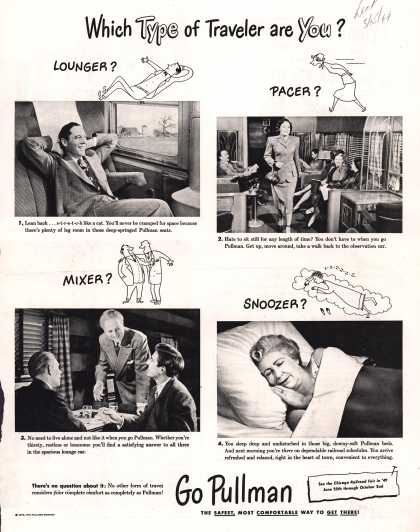 Pullman Company – Which Type of Traveler are You? (1949)