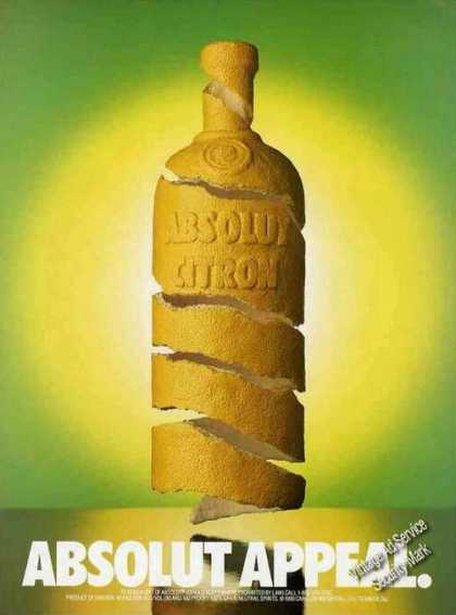 Absolut Citron Absolut Appeal Vodka (1991)