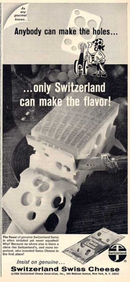 Switzerland Swiss Cheese (1964)