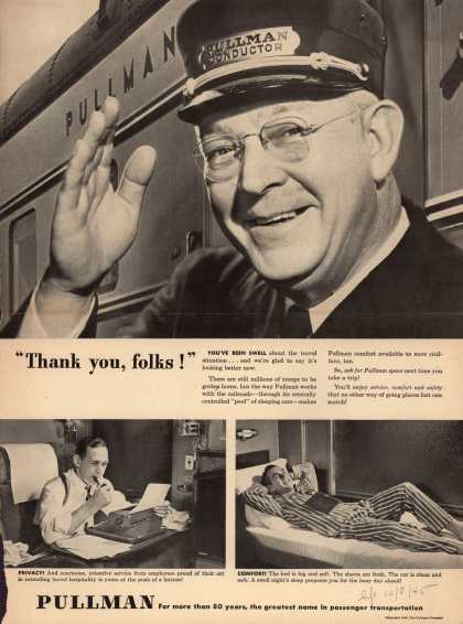"Pullman Company – ""Thank you, folks!"" (1945)"
