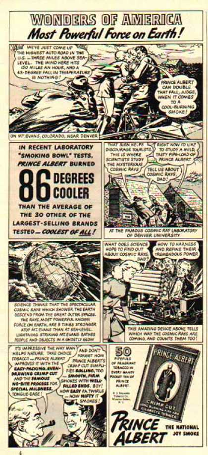 Prince Albert Tobacco – Comic Strip – Wonders of America (1941)