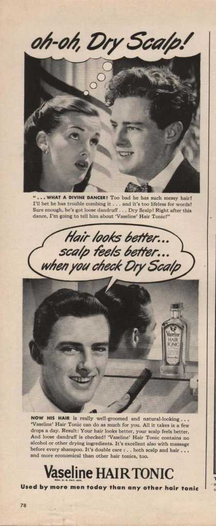 Vaseline Hair Tonic for Men (1946)