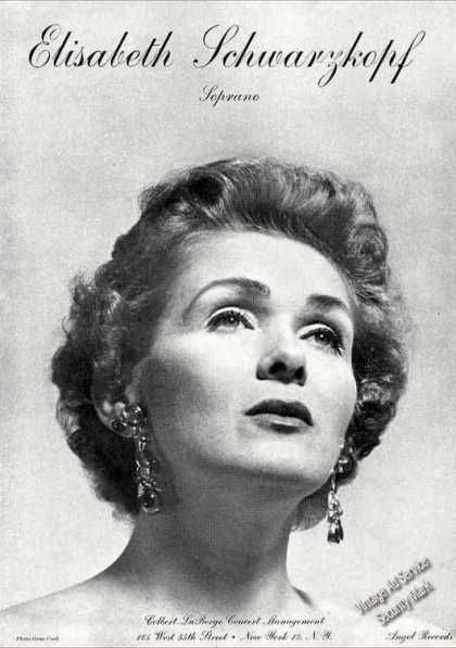 Elisabeth Schwarzkopf Photo Opera Trade (1962)